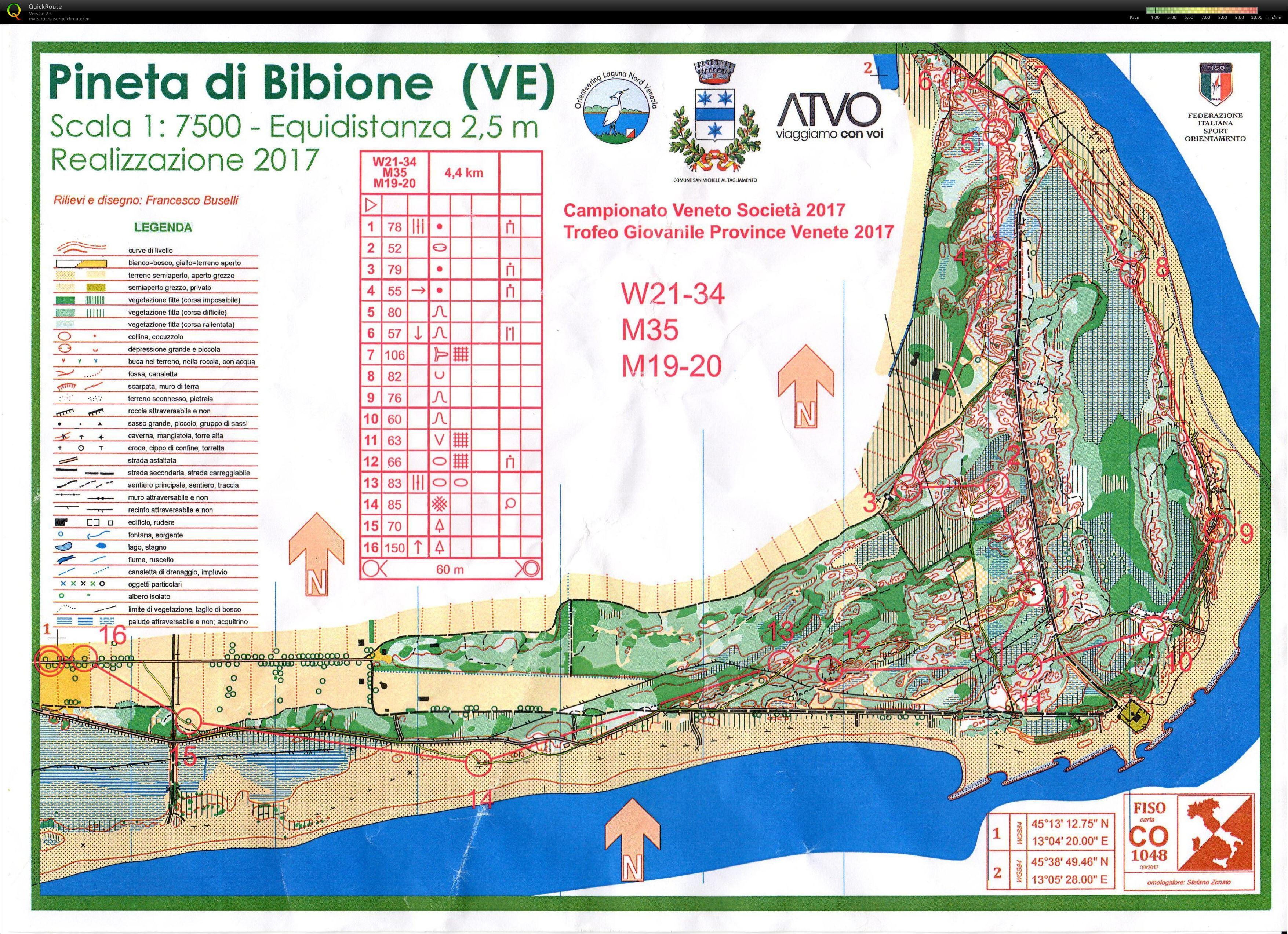 Carte Italie Bibione.La Mia Raccolta Di Carte Da Orienteering Campionato Veneto
