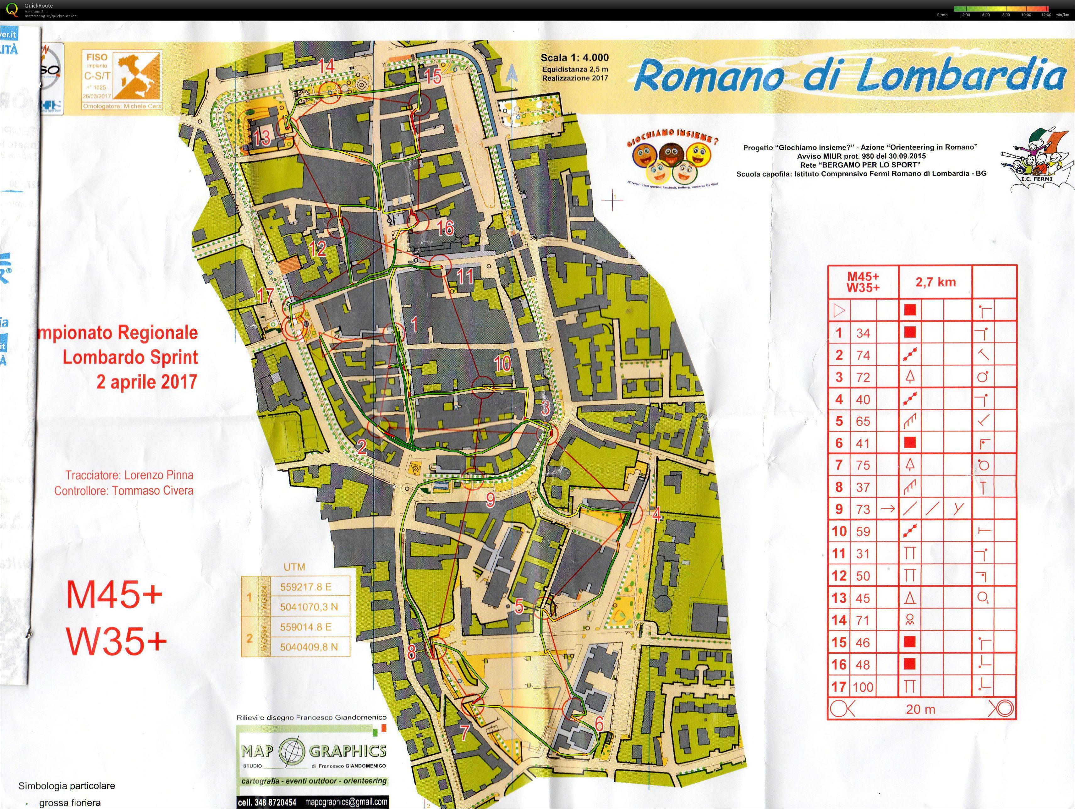 Cartina Di Romano Di Lombardia